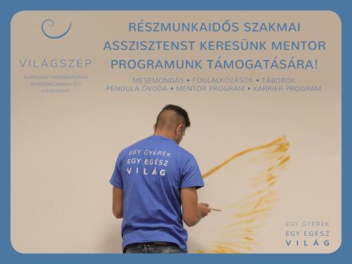 A Világszép Alapítvány szakemberekből és önkéntesekből álló budapesti mentorcsapatához egy precíz, az önálló adminisztratív munkát kedvelő, részmunkaidős (heti 20 óra) asszisztenst keres.